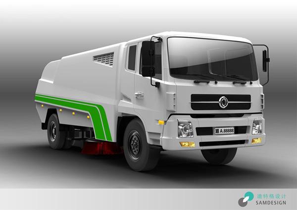 环卫设备扫路车外观设计