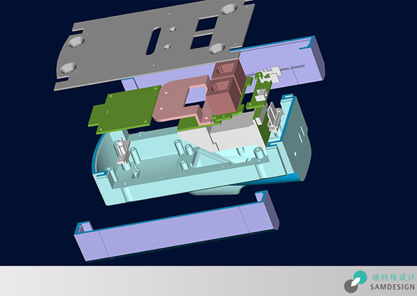 指纹门禁机结构设计